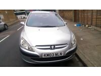 PEUGEOT 307, Manual, Petrol , 1.6 cc, 5Seaters, 2003 but Low Mileage 62,000; In very GOOD condition.