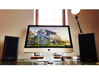 27 Apple iMac 3.4 GHZ Intel Core i7/ 8GB/ Fusion Drive/Apple Remote/Wireless Keyboard/Magic Mouse