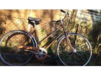 Ladies City Bike + Lights - great condition
