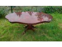 Italian vintage table wood with 6 chairs