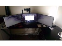 High Spec, Triple monitor, gaming PC for sale.