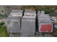 Reclaimed paving slabs