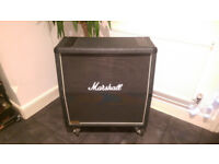 Marshall JCM900 1960A 4x12 guitar cab with cover and metal panel