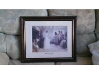 Wedding Day Picture in wooden vintage frame
