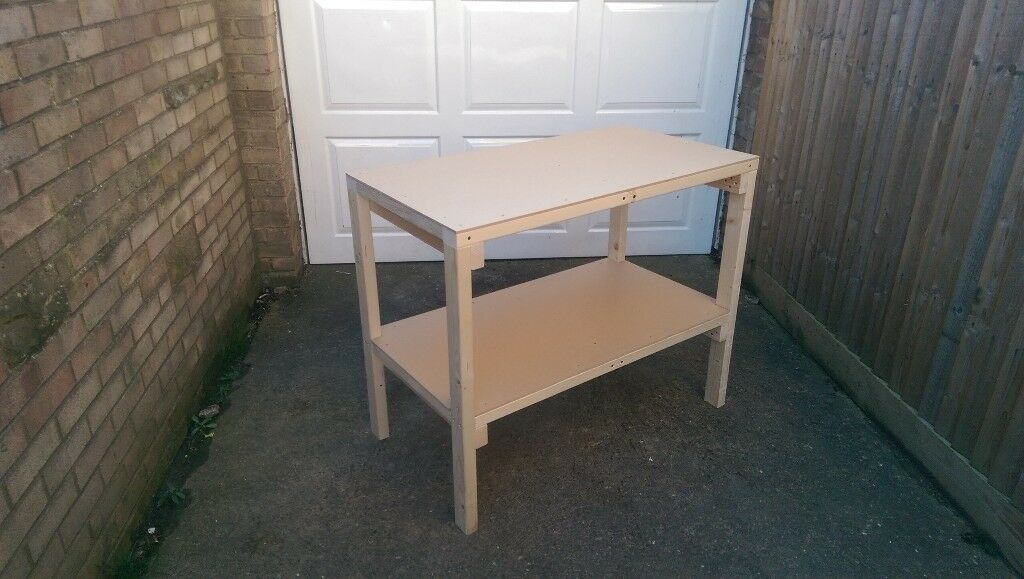 Solid garage workshop table workbench
