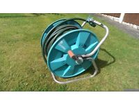 Hose pipes on reels
