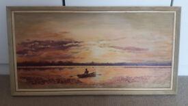 Vintage painting George Fletcher 1970 signed and framed