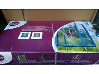 Trampoline 6ft in pink with enclosure