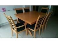 MFI Savannah extendable dining table & six chairs.