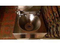 COMMERCIAL Stainless Steel Hand Wash Basin Sink + 2 taps