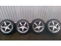 """Fox RS 18"""" Alloy Wheels and Tyres Ford Peugeot 4x108 Looking for 6x139.7 Modular Wheels/Tyres"""