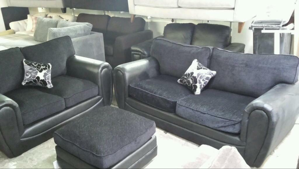 New gatsbury 3 seater 2 seater plus footstool only £335