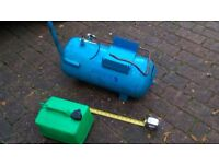 Air receiver compressor pneumatic spray