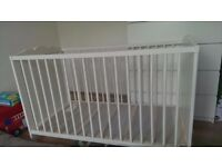 White Cot Bed from IKEA