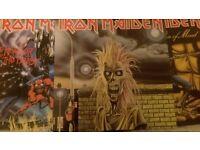 3 Iron Maiden original LPs