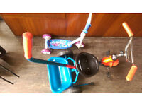 Frozen scooter - £5 and Kid cycle (2-5 years) - £10