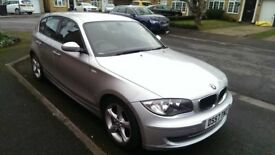 Must see BMW 1 Series in Silver, in fantastic condition inside and out, MOT and serviced this week!
