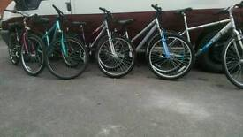 Mountain bikes ladies and gents £45-65