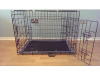 """Dog Crate / Puppy Cage 36"""" Large Black With Metal Tray NEW"""