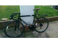 Racing bike large frame with rear rack