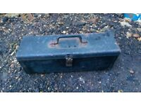 Original John Deere tractor side mount locking toolbox