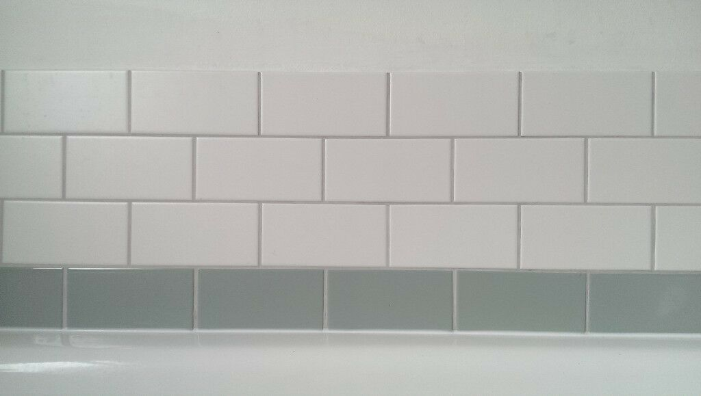 Mini Metro Flat Gloss Tiles In Duck Egg