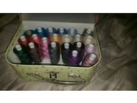 21 sewing Threads varous colours