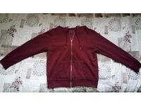 Primark burgundy sweater with zipper, size 16 UK, 44 EU