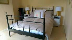 IKEA metal framed double bed