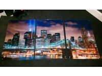 New York acrylic picture