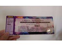 Leeds festival day ticket sat 27 for sale
