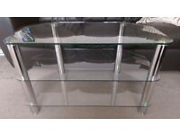 ****REDUCED FOR QUICK SALE**** Lovely Corner Tempered Glass TV Stand