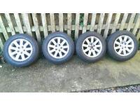 15'' Original/Genuine VW / Audi / Skoda Wheels Alloys And Tyres Set of 4 (5 x 112 Stud)