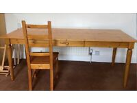 Dining and/or Work Table and 4 Chairs