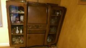Vintage Bureau/Display Cabinet