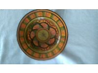 Moroccan pottery plate