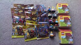 Lego CMF batman/Simpsons/chicken guy/banana