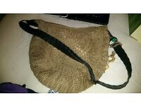 Light brown knitted bag