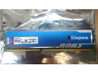 Kingston HyperX Blu 4GB 1333MHz DDR3 CL9 DIMM [KHX1333C9D3B1/4G]