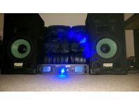 2 LIME Audio speakers + qtx sound SPL 1000 amplifier