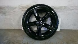 ALLOYS X 4 OF 20 INCH GENUINE AUDI/Q7/5/SPOKE/S/LINE/FULLY POWDERCOATED INA STUNNING HIGHGLOSS/BLACK
