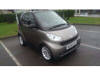 2009/09 Smart Fortwo Coupe MHD, grey/black, 40k miles, full service history, excellent condition