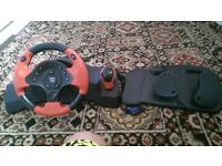GAME ON, steering wheel with pedals, fully working