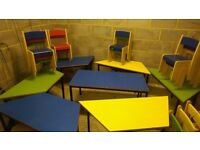 WOODEN Tables & Chairs for Children, Kids Play school Montessori Primary Nursery