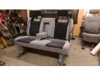 Sliding 3 Seat Camper Van Triple Bench. Table Bed Belts VW T4 T5 Caddy Transit Sprinter Vivarro