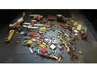 Box of old original Lego vehicles ect