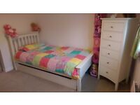 Single Storage Bed with matching Tallboy - M&S Hastings in Ivory