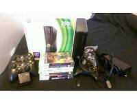 Xbox 360 Slim 250GB Console plus games and controllers