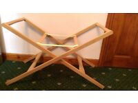 Mamas & Papas Deluxe Stand for Moses Basket - Natural