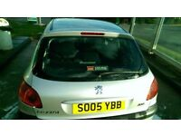 Peugot 206 Zest 2 2005 low miles , silver ,1.4 petrol